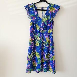 H&M Divided sleeveless v-neck open back  dress